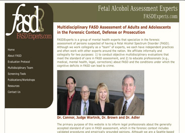 FASD mental health experts specializing in forensics